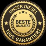 Siegel Diesel-Qualitäts-Garantie